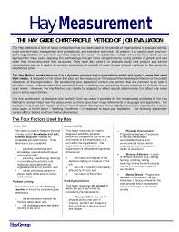 Hay Guide Chart Point System Hay Summary
