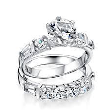 Uncategorized White Gold Wedding Band Sets Engagement Rings