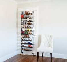 Gunmetal 36-Pair Over the Door Shoe Rack ...