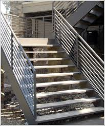 Steel Staircase outdoor for basement
