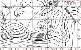 Surface Analysis Chart Noaa Ocean Weather Services The Use Of The 500 Mb Chart At Sea
