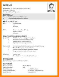 Job Application Cv Example Sample For Accurate And 7 ...