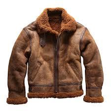 new super popular european size high quality super warm genuine sheep leather jacket mens big size b3 shearling er military pilot fur jacket 3d 0p