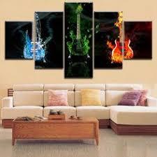 <b>5 Panels HD</b> Printing Canvas Painting 5 Pieces Daft Punk Style ...