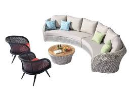 curved outdoor furniture 6 sofa set with 2 chairs back chair cushions curved outdoor furniture