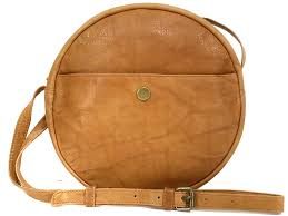chloe tan leather round bag
