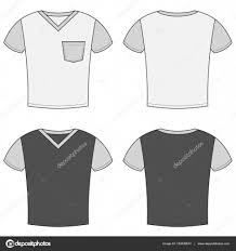 shirt design templates t shirt design templates front and back sides stock vector