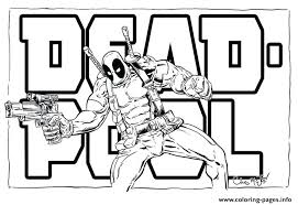 Printable Deadpool Coloring Pages Coloring Pages Marvel Color