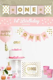 1st birthday banner first birthday photo banner 1st birthday picture banner girls