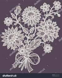 <b>White</b> Lace. <b>Bouquet</b>. Violet Background. | İğne Oyası ve File İşi ...