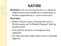 Example Of Satirical Essays Examples Of A Satire Essay Lesom