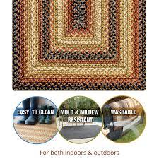 san antonio black burdundy ultra wool braided rugs