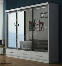 sliding door bedroom furniture. Image Is Loading BEDROOM-FURNITURE-Modern-sliding-door-FULL-mirror-WARDROBE- Sliding Door Bedroom Furniture