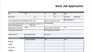 Job Applications Sample Free 9 Sample Standard Job Application Form In Sample