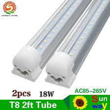 24 Led Light Fixture Us 165 0 5 Off Integrated T8 60cm 2ft 24 Led Tube Lights Double Row Smd2835 V Shape Led Bulb Lamp Fixture Plug And Play 18w Ac85 265v 25pcs In Led