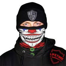 Fleece <b>Face Shield</b> Mask   Neck Gaiter Winter   <b>Clown</b> Design - SA ...