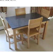 new listingtable 4 chairs john lewis granite top solid oak legs and chairs