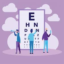 Eye Doctor And Reading Chart Vector Free Download