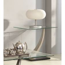 small glass lamp table cesar lamp table in clear glass top bvhtmav