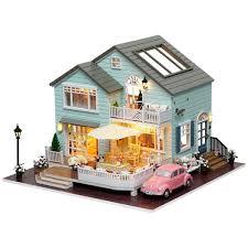 senarai harga diy miniature wooden doll house furniture kits toys handmade craft miniature model kits dollhouse toys gift for children a035 terkini di