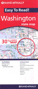 Washington State Mileage Chart Washington State Easy To Read Rand Mcnally