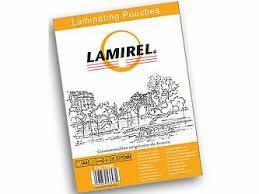 Пакетная <b>пленка для ламинирования Lamirel</b> A4, глянцевая, 125 ...