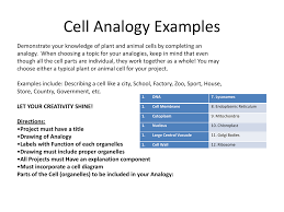 Cell City Analogy Examples Cell Analogy