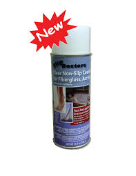 non slip clear spray for fiberglass acrylic and other surfaces