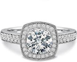 Precision Set Double Row Diamond Engagement Ring 7317