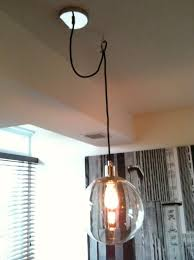 decoration how to diy sphere chandelier from a glass bowl curbly within swag light fixtures