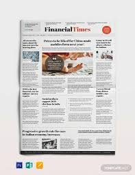 1960s Newspaper Template Free 53 Amazing Newspaper Templates In Pdf Ppt Word Psd