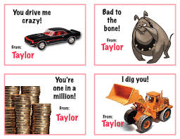 Valentines Day Cards For Boys Happy Kids Personalized Valentines Day