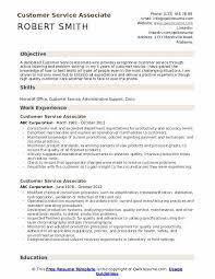 Examples Of Problem Solving Skills In Customer Service Customer Service Associate Resume Samples Qwikresume