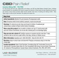 400mg Cbd Lab Blends Pain Relief Maximum Strength Cream 1 76 Oz