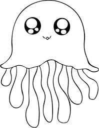 jellyfish drawing for kids.  Drawing Cute Jellyfish Coloring Pages  Animal Pages Of PagesToColor On Drawing For Kids W