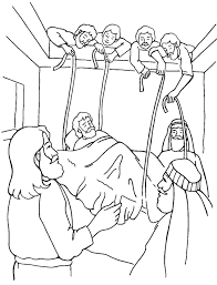 Small Picture Jesus Heals the Paralytic Coloring Page