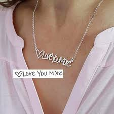 image unavailable image not available for color personalized memorial signature handwriting necklace