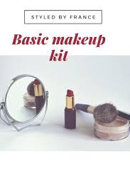 today in my beauty section i am going to share with you basic makeup s to have in your kit as a beginner