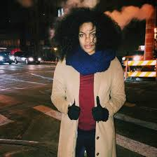 scarf chloe vero model curvy plus size blue scarf knitted scarf coat camel coat winter coat winter outfits top red top curly hair wheretoget