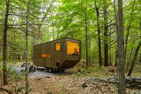 camping in the woods. Modren The Getaway A Service That Rents Tiny Houses In The Woods To Make Camping More  Comfortable The S