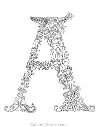 Feel free to print and color from the best 39+ coloring pages letters of the alphabet at search through 623,989 free printable colorings at getcolorings. Pin On Adult Coloring Pages At Coloringgarden Com
