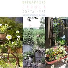 Brilliant garden junk repurposed ideas create artistic landscaping Diy Repurposed Garden Containers And Tons Of Great Ideas For Your Plants The Cottage Market The Cottage Market Repurposed Garden Containers And Tons Of Great Ideas For Your Plants