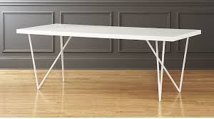 dylan 36x80 white lacquer dining table reviews cb2 inside cb2 ideas 14