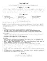 Example High School Teacher Resume Free Sample Resume Templates