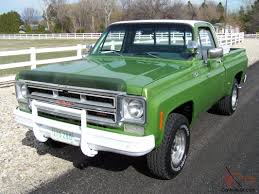 1975 GMC Chevy 4x4 Shortbed 1 Owner 4speed 350 Original Condition ...