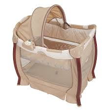 Graco Wood Travel Lite Crib and Bassinet in Oasis