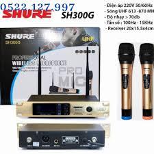 Micro không dây SHURE SH 300G cao cấp loại 1, sản phẩm dành cho dàn âm thanh  gia đình karaoke chính hãng