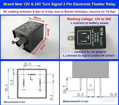 12v 24v turn signal indicator electronic flasher blinker relay car 3 Prong Led Flasher Schematic please use the information provided compare with your current flasher for applicability email me if any question if you want to do your own connection, Plug in LED Flasher Kit