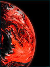 Planet Galaxy Red Apple Wallpaper ...