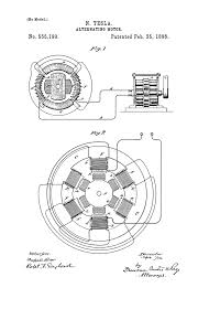Nikola tesla u s patent alternating motor universe wiring diagram